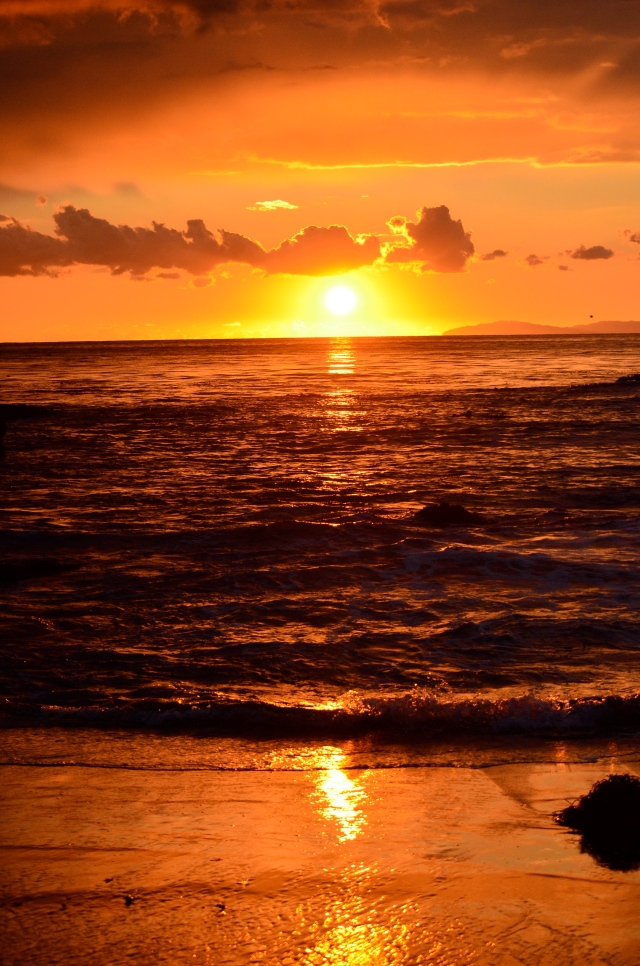 Sunset at Laguna Beach.