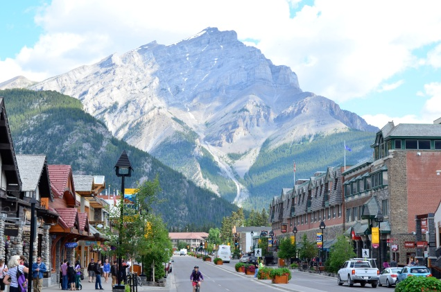 Looking down Banff Ave.