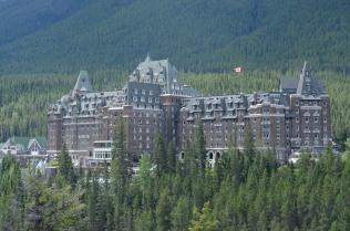 The famous Fairmont Banff Hotel