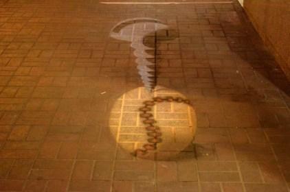 3D street art seen through the lens.