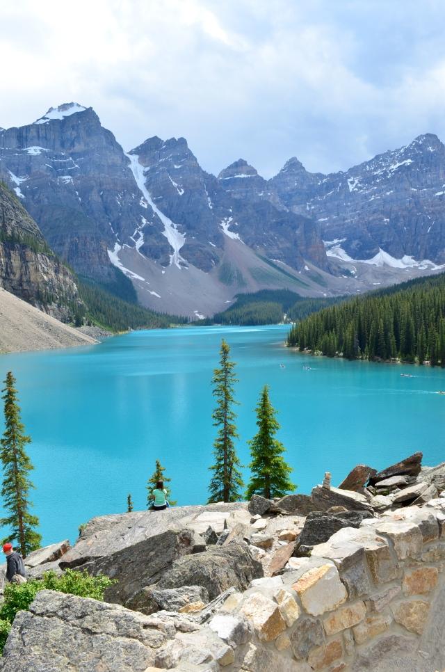 The beautiful aqua blue lake.