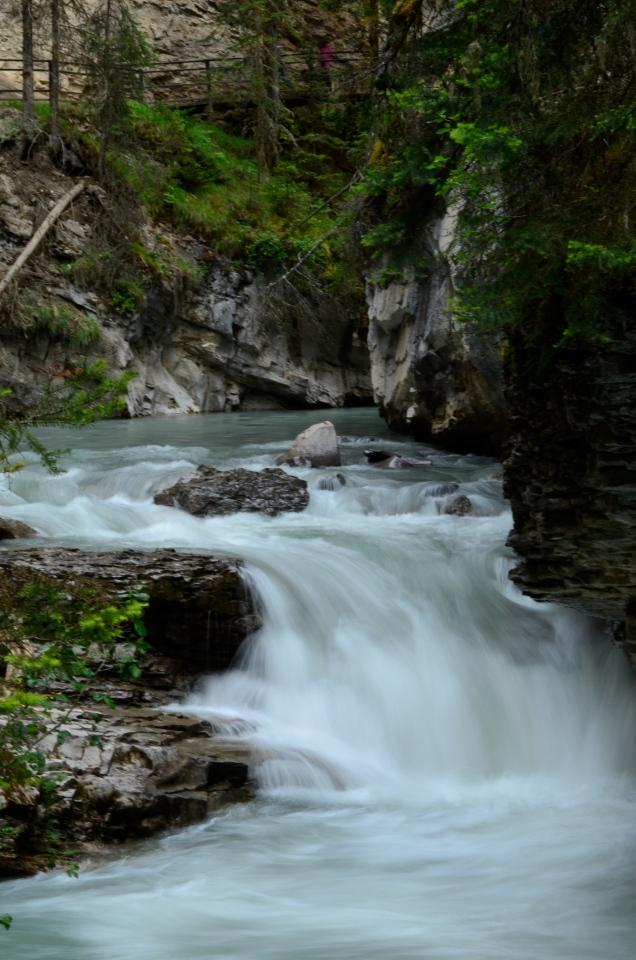Dynamic flowing water using slow shutter speed.