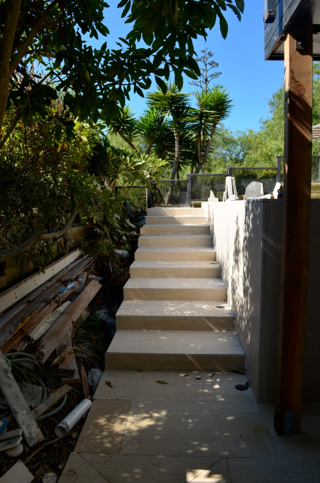Steps leading up to the deck.