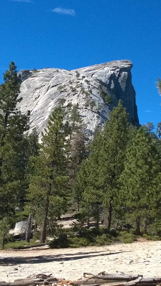View of the Half Dome before reaching the sub dome.