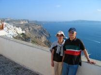 The vistas in Santorini didn't impress.